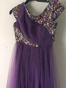 Size 10 purple formal dress Alberton Port Adelaide Area Preview