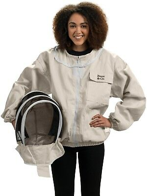 Bees Co K74 Natural Cotton Beekeeper Jacket With Fencing Veil Xx-large