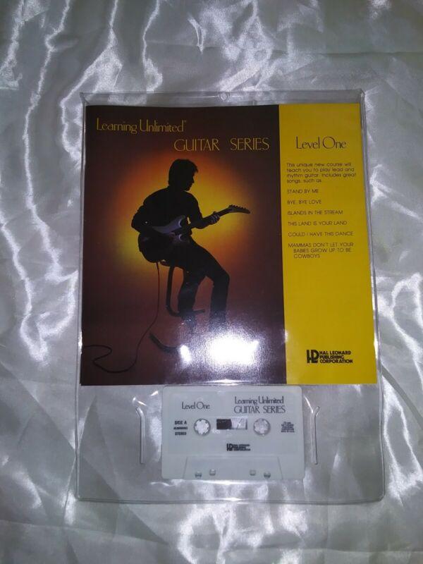 Learning Unlimited Guitar Series Course  Booklet & Cassette LEVEL 1 HAL LEONARD
