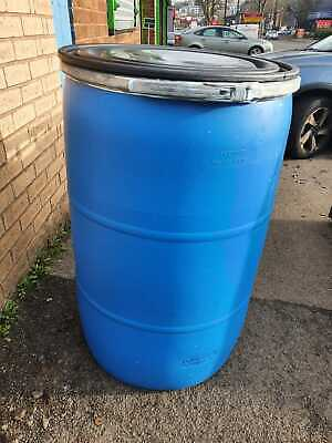 2 x 220 Litre Wide Mouth Barrels With Lid & Clamp Inc Postage