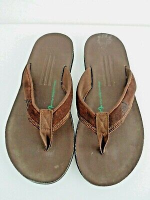 ADIDAS BROWN SUEDE FLIP FLOPS SIZE 8 MENS ADIDAS BETTER-PLACE TOE POST SANDALS