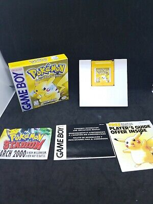 Nintendo Gameboy Pokemon Yellow Version With Box and Inserts - No Manual