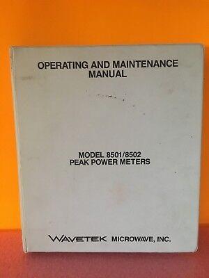 Wavetek 1499-19488 Model 85018502 Peak Power Meters