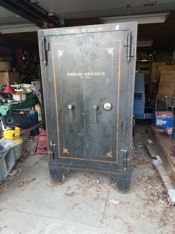 Antique Safe herring hall an marvin