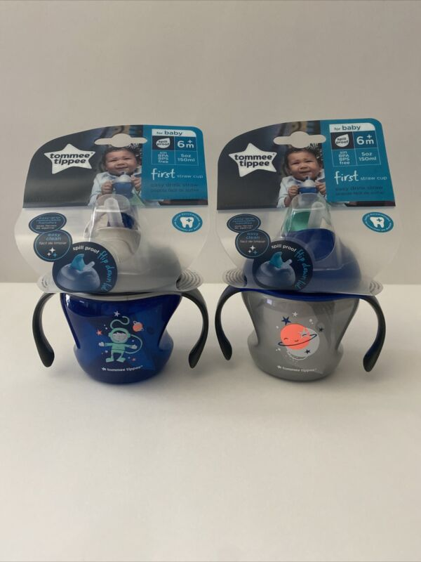 Tommee Tippee 5oz First Straw Cup with Removable Handles 6m+  -NEW-