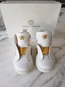 149f4cbf2ce4 Young Versace Shoes Boy Girl Leather High Top Trainers size EU 20 ...