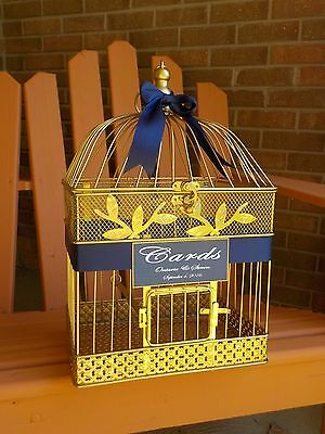 Birdcage Card Holder, Wedding Cards, Shower Cards, Color Choices, Personalized