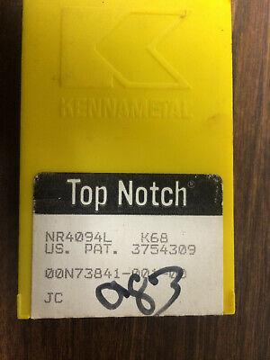 5 Pcs Kennametal Nr4094l K68 Carbide Grooving Inserts
