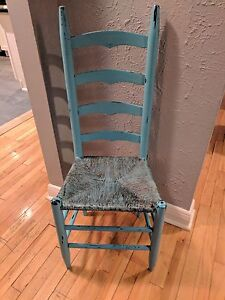 Painted ladderback chair