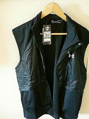 New Under Armour Womens Cold Gear Reactor Run Vest Black 1342649 Large New Tags