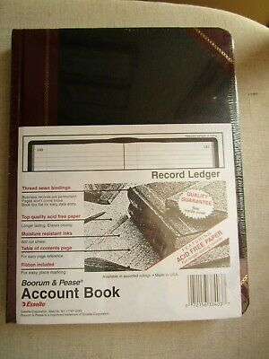 Boorum Pease Account Book -- New 300 Pages - 9 58 X 7 58 38-300-r Free Ship