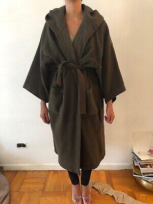 Kenzo Coat Green Khaki Hooded Robe Kimono Vintage Hooded Kimono Robe
