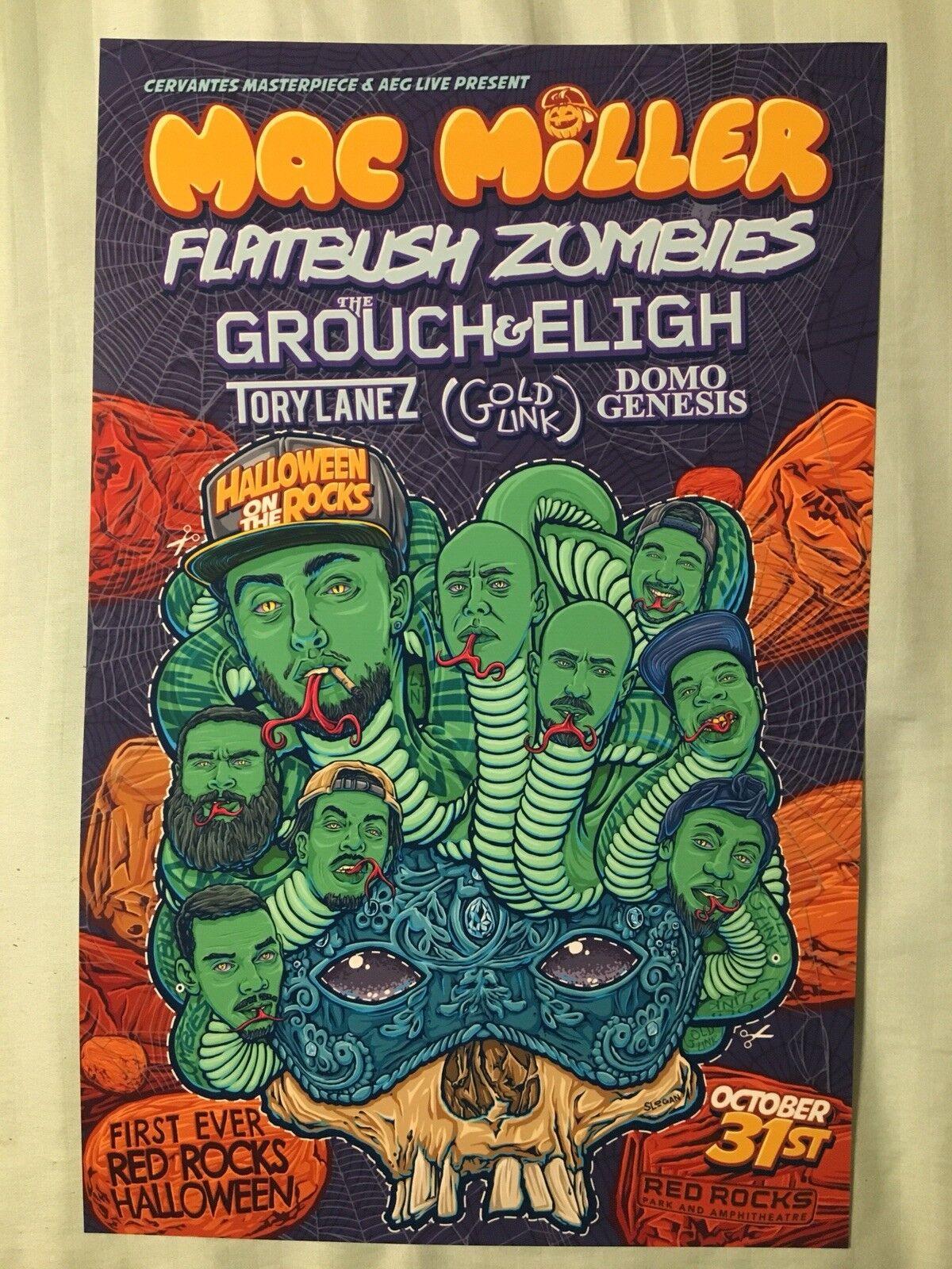 Mac miller flatbush zombies 11x17 tour music poster