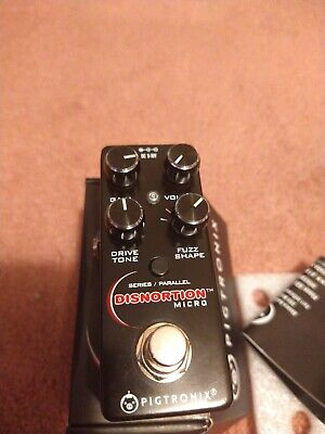 Pigtronix Disnortion Micro Effects Guitar Pedal Fuzz Overdrive Distortion
