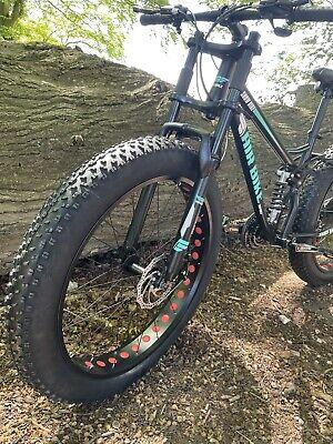 Mountain Bike Fat Tyre Bicycle - Full Suspension Softail - Black
