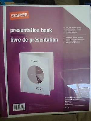 Staples Presentation Book 21626 Top Loading White Lot Of 2