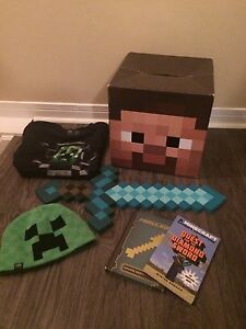 Minecraft diamond sword t-shirt and Steve Head
