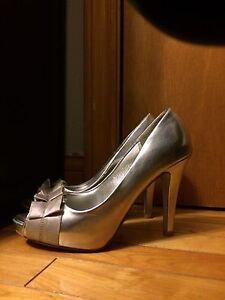 Size 7.5 silver heels