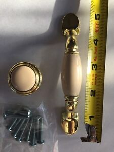 Traditional brass and Ceramic insert pull, price drop