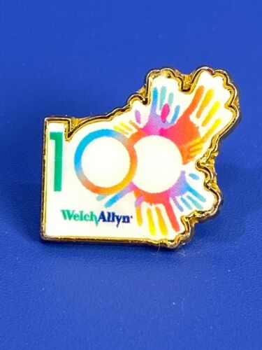 100 Year Anniversary Welch Allyn Medical Equipment Hand Prints Tack Label Pin
