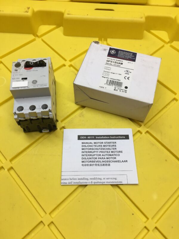 GE General Electric GPS1BSAM Manual Motor Starter, 11-16A, New