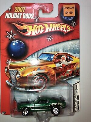Hot Wheels 2007 Holiday Rods Ford Mustang Mach 1 In Green Real Riders.