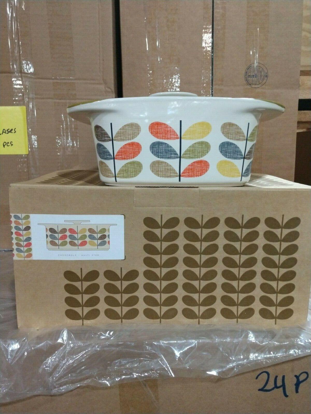 Orla Kiely Scribble Multi Stem Ceramic Casserole Dish Rare R