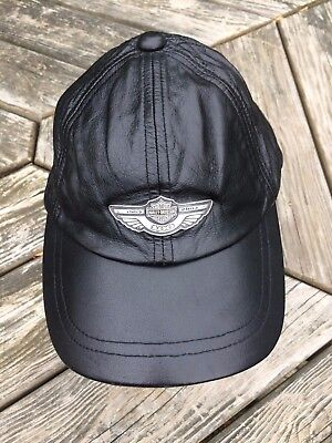 Harley-Davidson 100th Anniversary Black Leather Cap