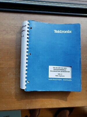 Tektronix Cg 551ap Cg 5001 W Options V2 Instruction Manual 070-2815-01 Tm5000