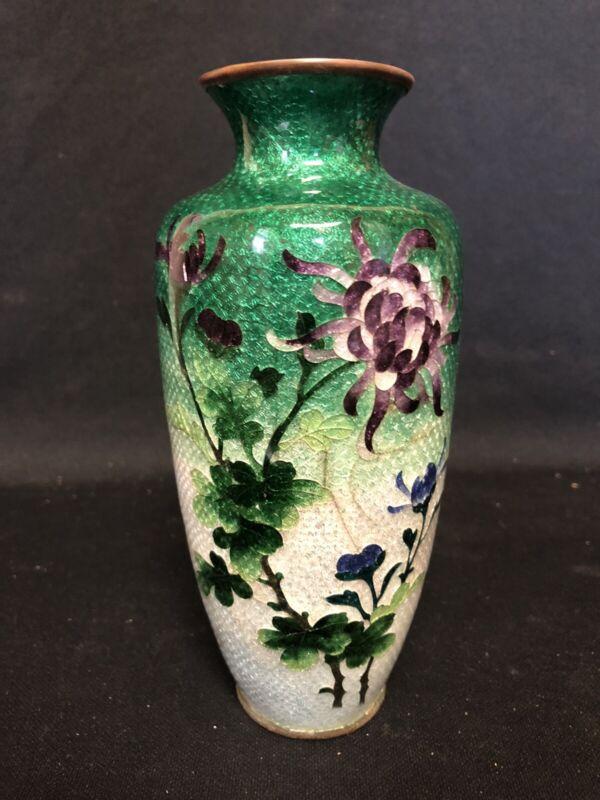 "7"" Japanese Cloisonne Vase"