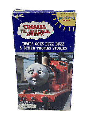 """""""THOMAS THE TANK ENGINE & FRIENDS""""JAMES GOES BUZZ BUZZ & OTHER T. STORIES VHS"""