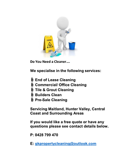 End Of Lease Cleaner