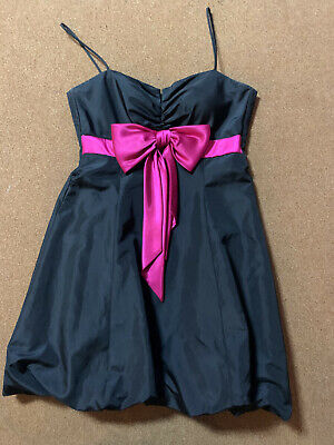 Laura Petites Cocktailkleid schwarz Schleife in pink Gr. S Ballonrock Kleid online kaufen