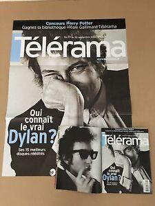 Bob Dylan TELERAMA magazine poster promo - France - Bob Dylan TELERAMA magazine Issue 2801 september 2003 + promo poster. All near mint - France