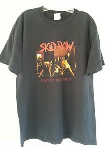 Skid Row Slave to the Grind Graphic Band T-shirt Men's Size Large Black