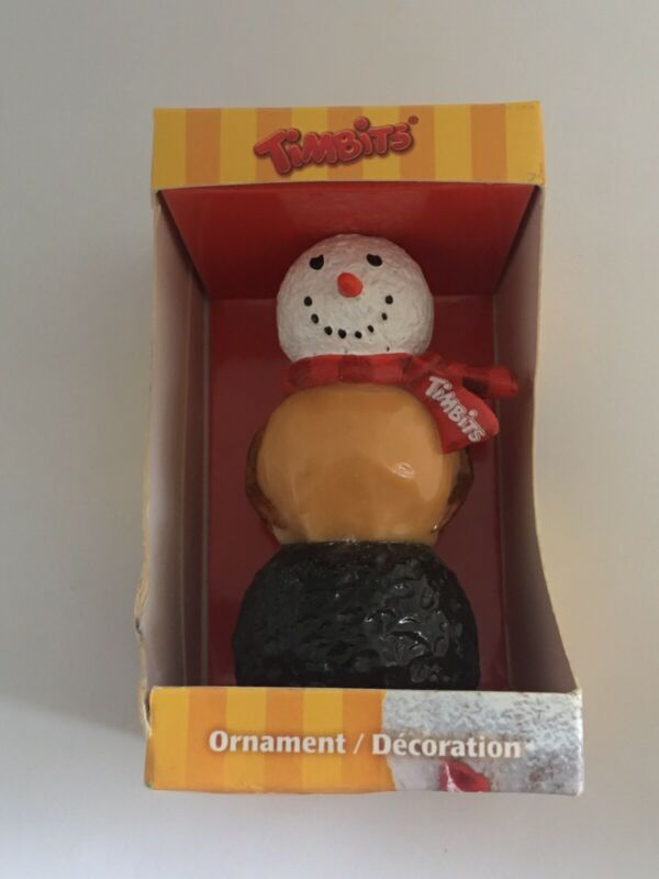TIM HORTONS  Timbits Donut 2011 Snowman Christmas Tree Ornament