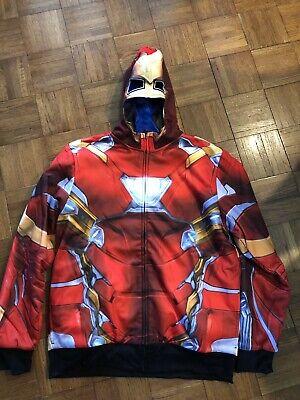 Marvel Avengers Iron Man Captain America Reversible Costume - Captain America Kostüm Hoodie