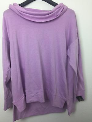 Ideology Plus Size Cowl-Neck Top Lilac Petal Heather 1X 2X 3X MSRP 49.50 ...SAVE