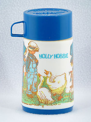 Aladdin Blue Plastic HOLLY HOBBIE THERMOS 1978 - Vintage