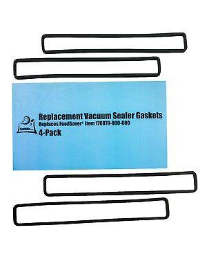 FoodSaver Replacement Gaskets (4 Foam Gaskets) - Fits FM2000, FM2010, FM2100,... - Pack Replaceable Foam