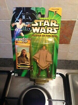 STAR WARS POWER OF THE JEDI QUI GON JINN MOS ESPA DISGUISE FIGURE
