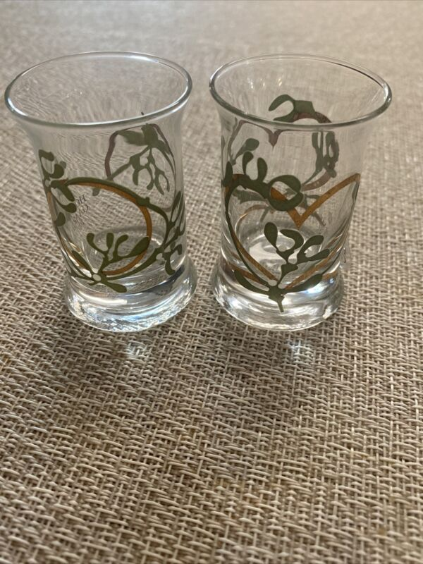 Pair HolmeGaard of Denmark Christmas Dram Glasses  In Box  Preowned/ But New