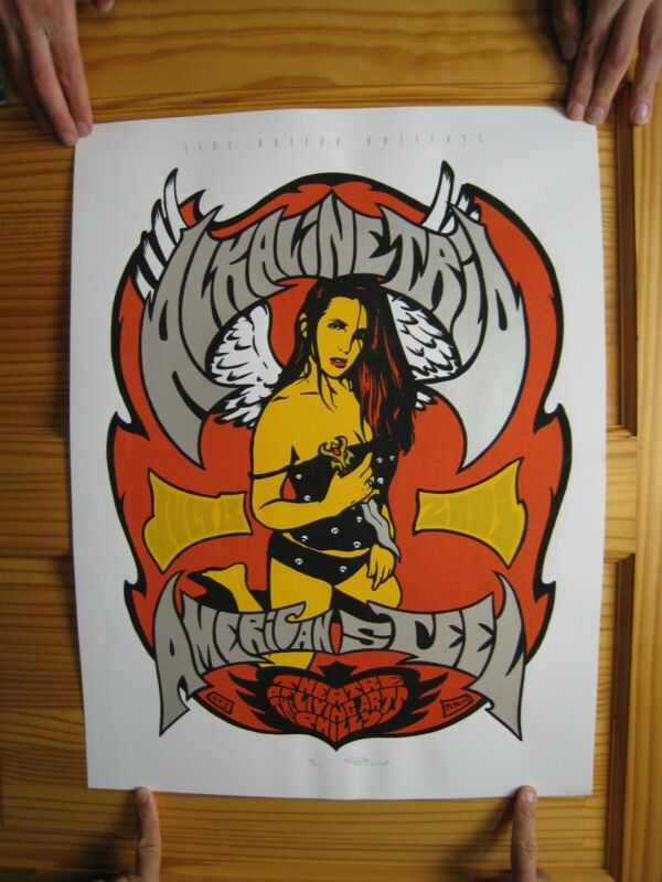 Alkaline Trio Poster Silkscreen Billy Perkins Signed and Numbered S/N