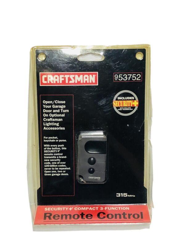 Craftsman 3 Button Garage Door Remote Control 139. 53752 Rolling Code Technology
