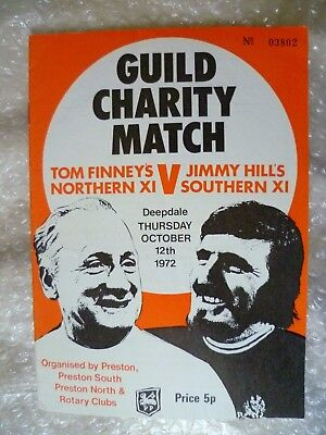 1972 Guild Charity Match- TOM FINNEY'S NORTHERN XI v JIMMY HILL'S SOUTHERN XI