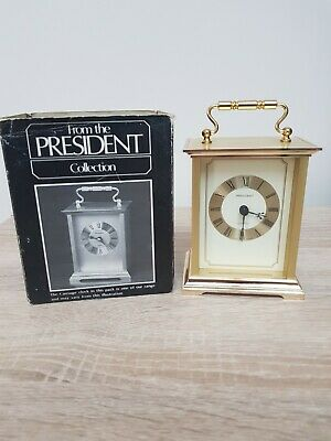 Carriage Clock Gold Used With Original Packaging