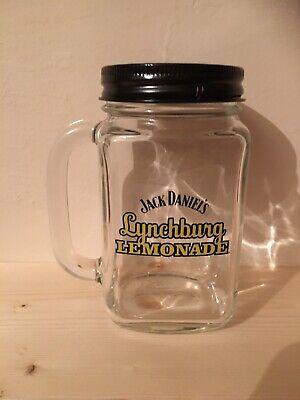 Jack Daniel's Lynchberg Lemonade Mason Jar Glass