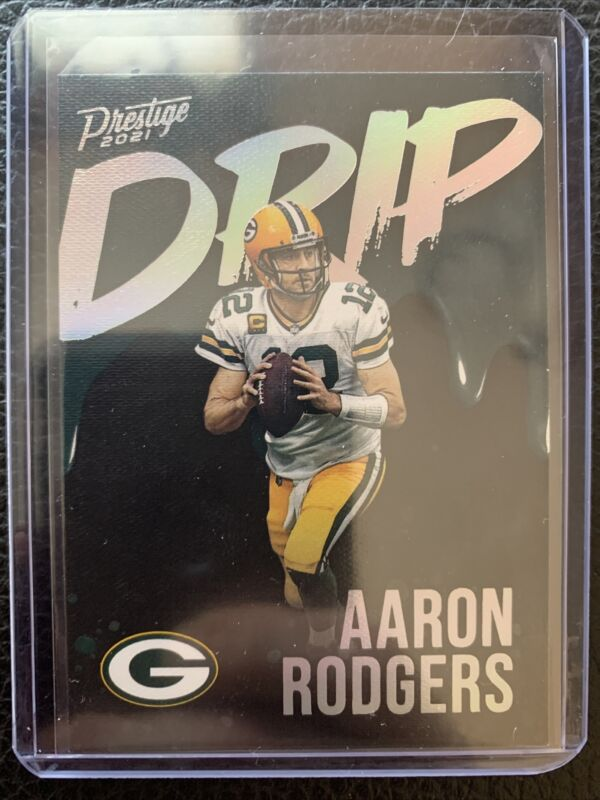 🔥 2021 Panini Prestige Drip Green Bay Packers AARON RODGERS #ND-AR 🔥CASE HIT🔥
