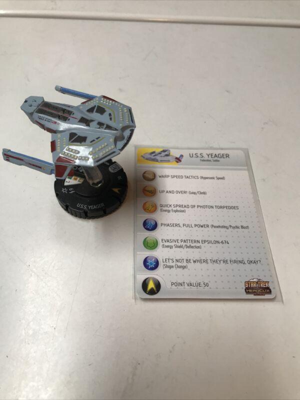 Star Trek Heroclix Tactics U.S.S. Yeager with Card