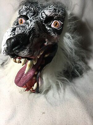 Werewolf For Halloween (Werewolf Scary Grey Wolf Full Head Mask great for Halloween or)